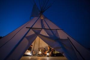 Sleep in a teepee under the stars at St Eugene Resort & Casino