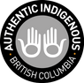 The ITBC Authentic Indigenous logo in black and white