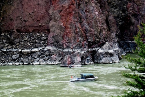 Boat Against Canyon - Copy