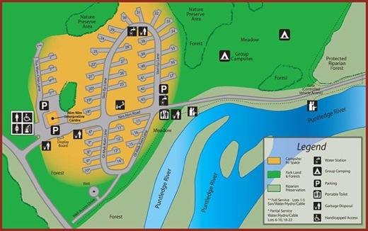 Puntledge RV Campground and Nim Nim Interpretive CentreSite-Map