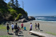 Beautiful beach front views from Wya Point Resort in Ucluelet, BC.