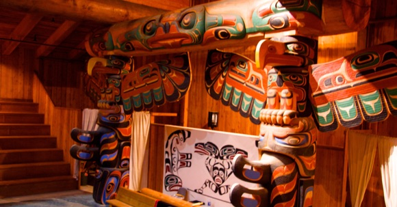 Big House, Klemtu B.C., Spirit Bear (Adventures) Lodge